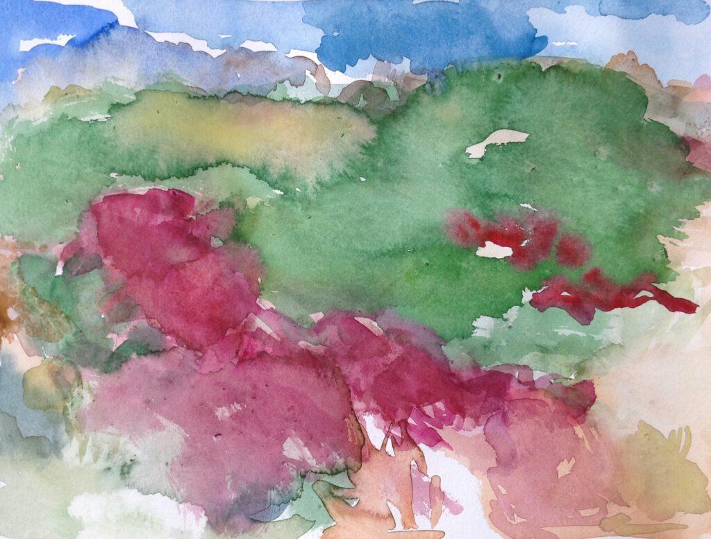 Dünenlandschaft (Terschelling) | Aquarell | 30 x 40 cm | 2019
