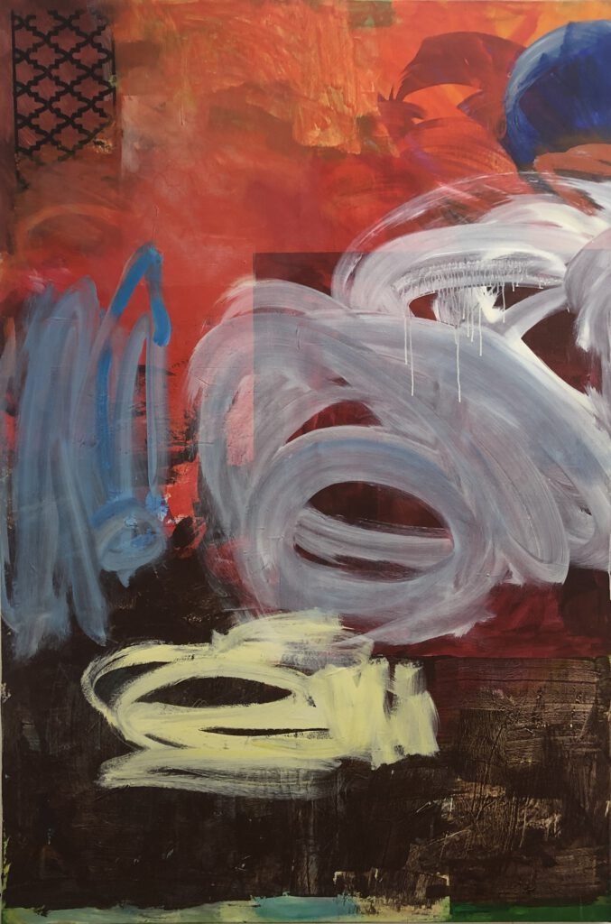 ohne Titel | Acryl auf Leinwand | 210 x 140 cm | 2020
