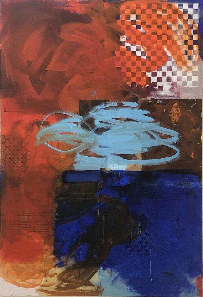 ohne Titel | Acryl auf Leinwand | 220 x 150 cm | 2020