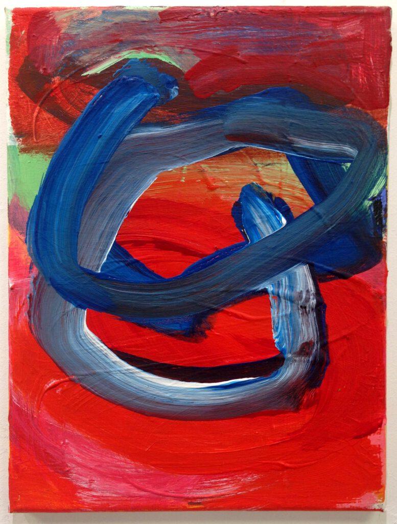 ohne Titel | Acryl auf Leinwand | 40 x 30 cm | 2019