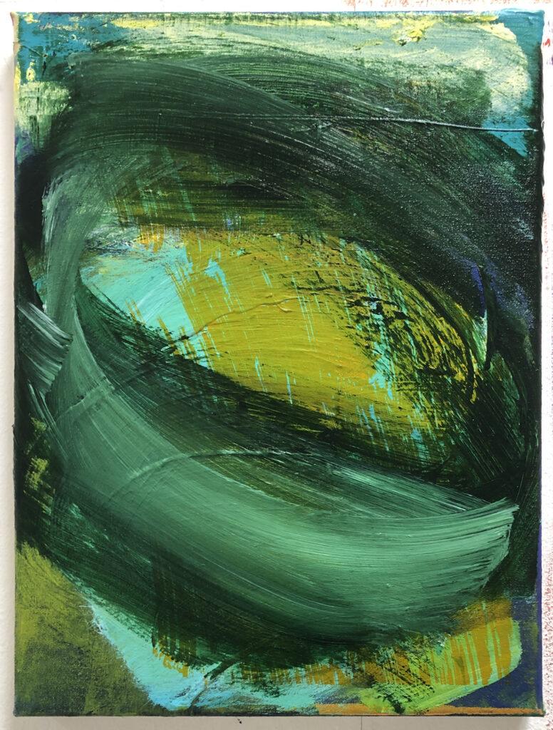 ohne Titel | Acryl auf Leinwand | 40 x 30 cm | 2020