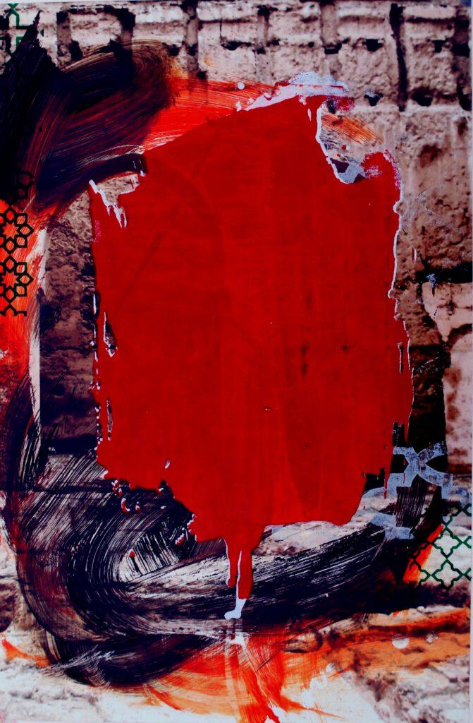Arabische Momente | Siebdruck auf Fotografie | 60 x 40 cm | 2021
