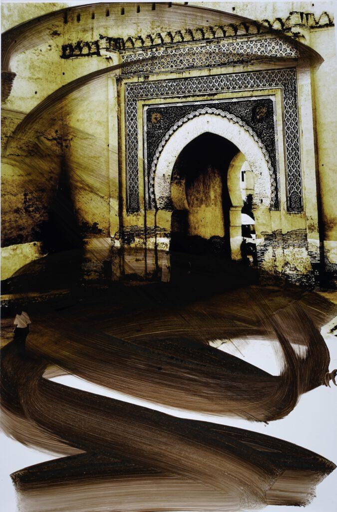 Das große Tor von Fez | Siebdruck auf Fotografie | 60 x 40 cm | 2021
