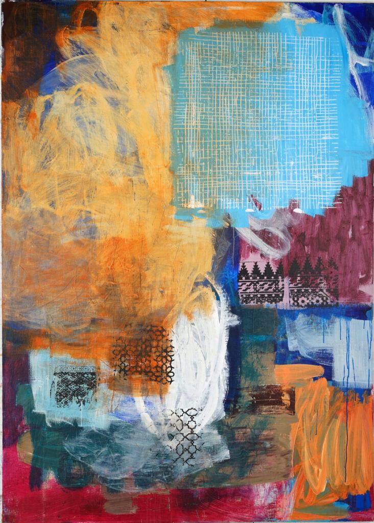 ohne Titel | Acryl auf Leinwand | 200 x 150 cm | 2020