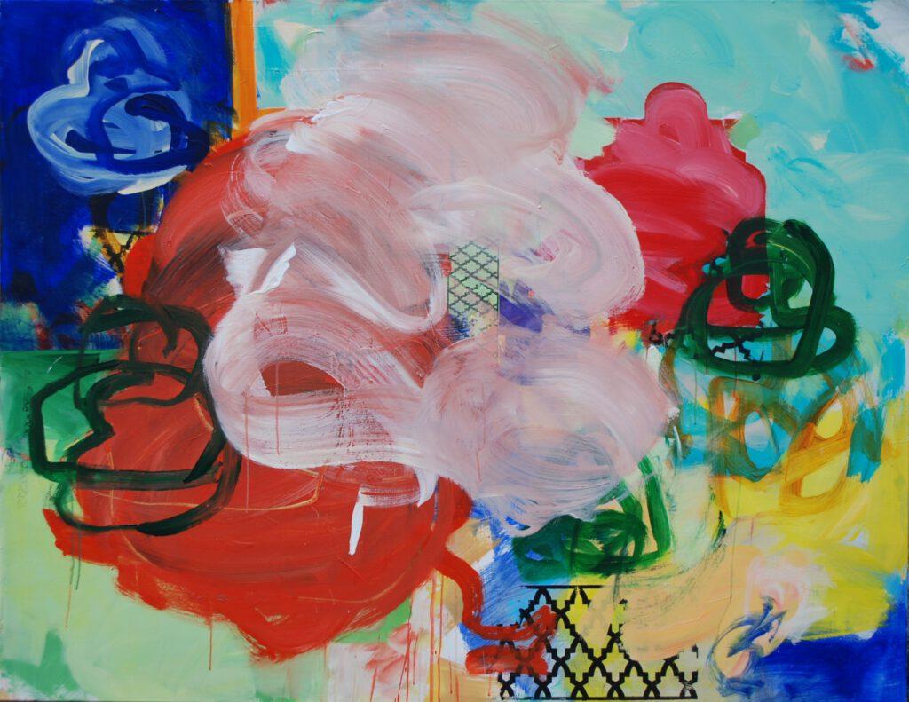 ohne Titel | Acryl auf Leinwand | 140 x 180 cm | 2018