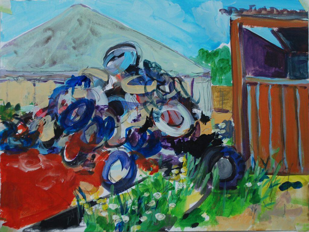 Sommerbjerg   Acryl auf Papier   30 x 40 cm   2017