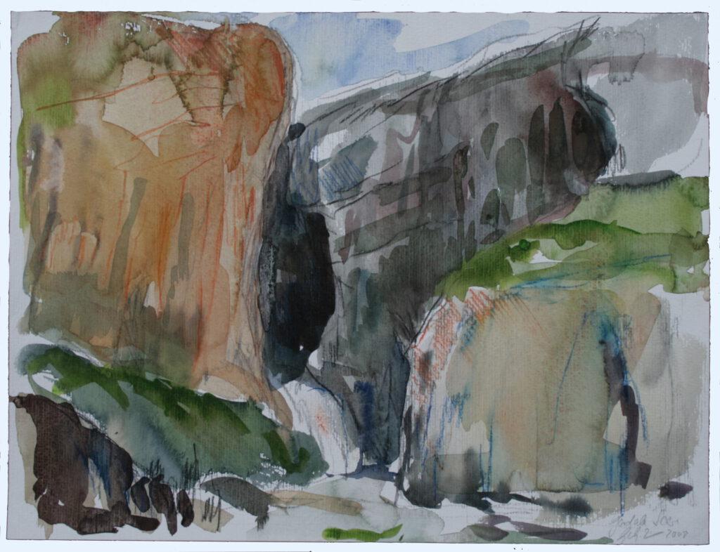 Gordale Scare | Aquarell | 30 x 40 cm | 2008