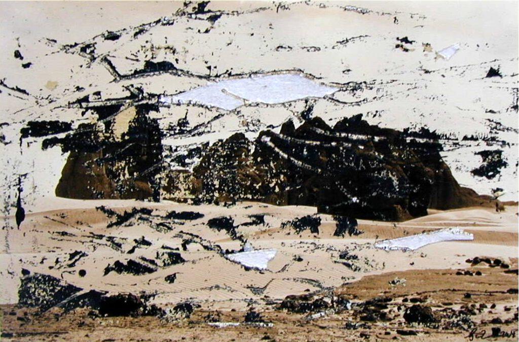 Sahara | überarbeitete Fotografie | 20 x 30 cm | 2009