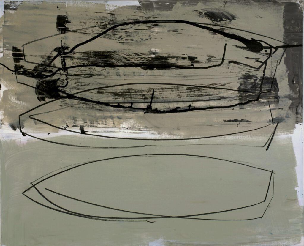 zwei/drei/boote   Acryl   100 x 120 cm   2011