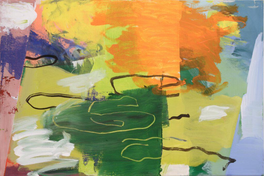 Seelandschaft   Acryl   59 x 90 cm   2013