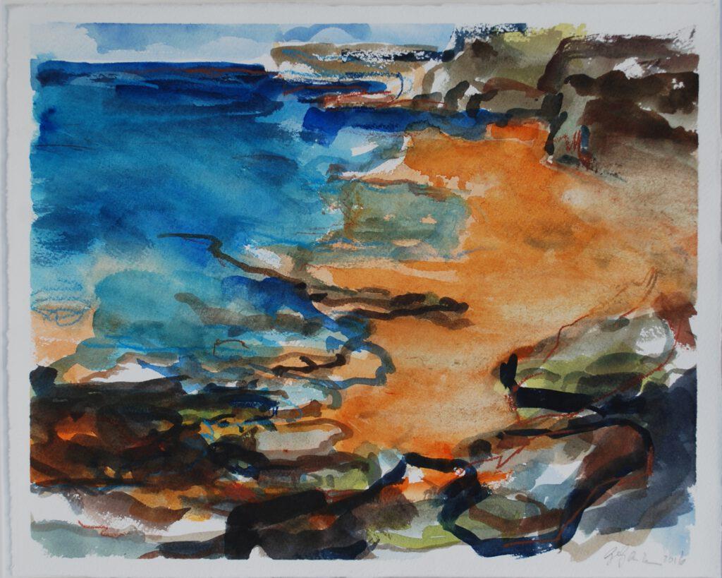 Cap Gris Nez | Aquarell | 30 x 40 cm | 2016