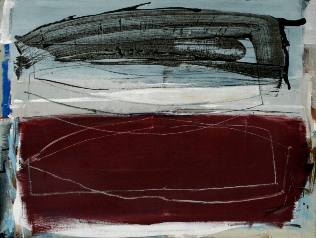 zweidreiboote   Acryl   90 x 120 cm   2011