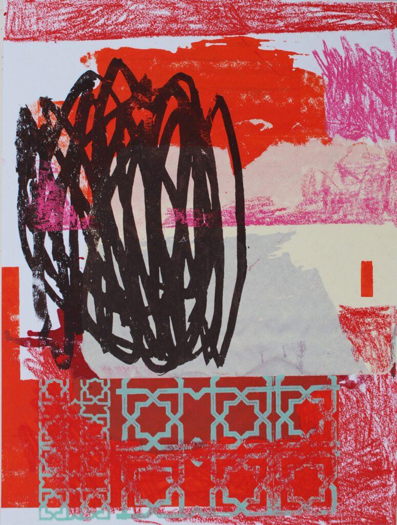 Marrokanische Impression mixed media auf Papier 65 x 50 cm 2021