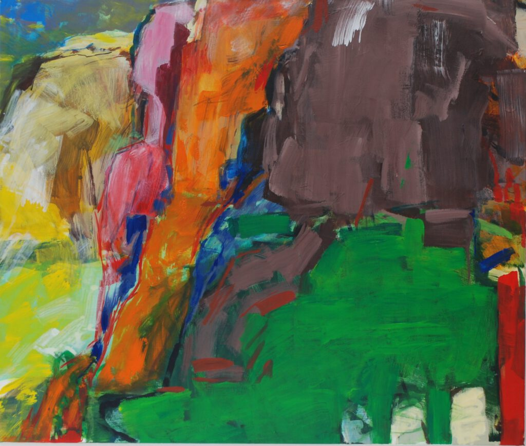 Rotenfels | Acryl | 120 x 140 cm | 2015 | in Cooperation with Pete Clarke