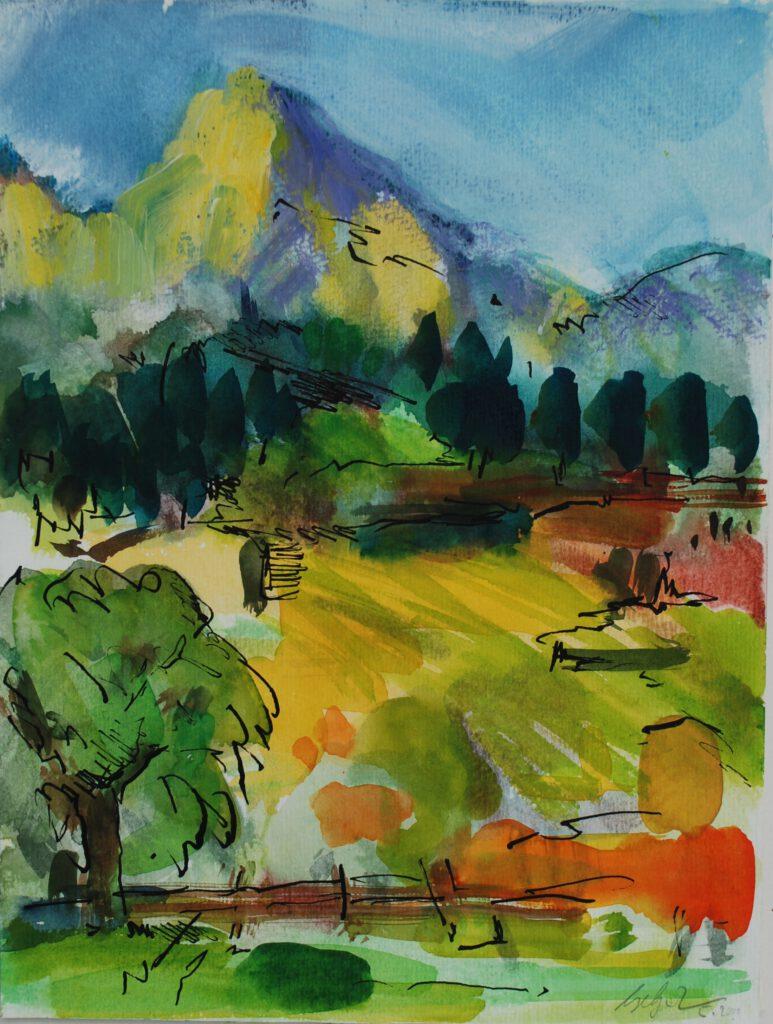 Völz | Aquarell | 32 x 24 cm | 2000