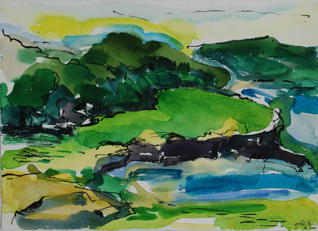 Wales | Aquarell | 24 x 32 cm | 2001
