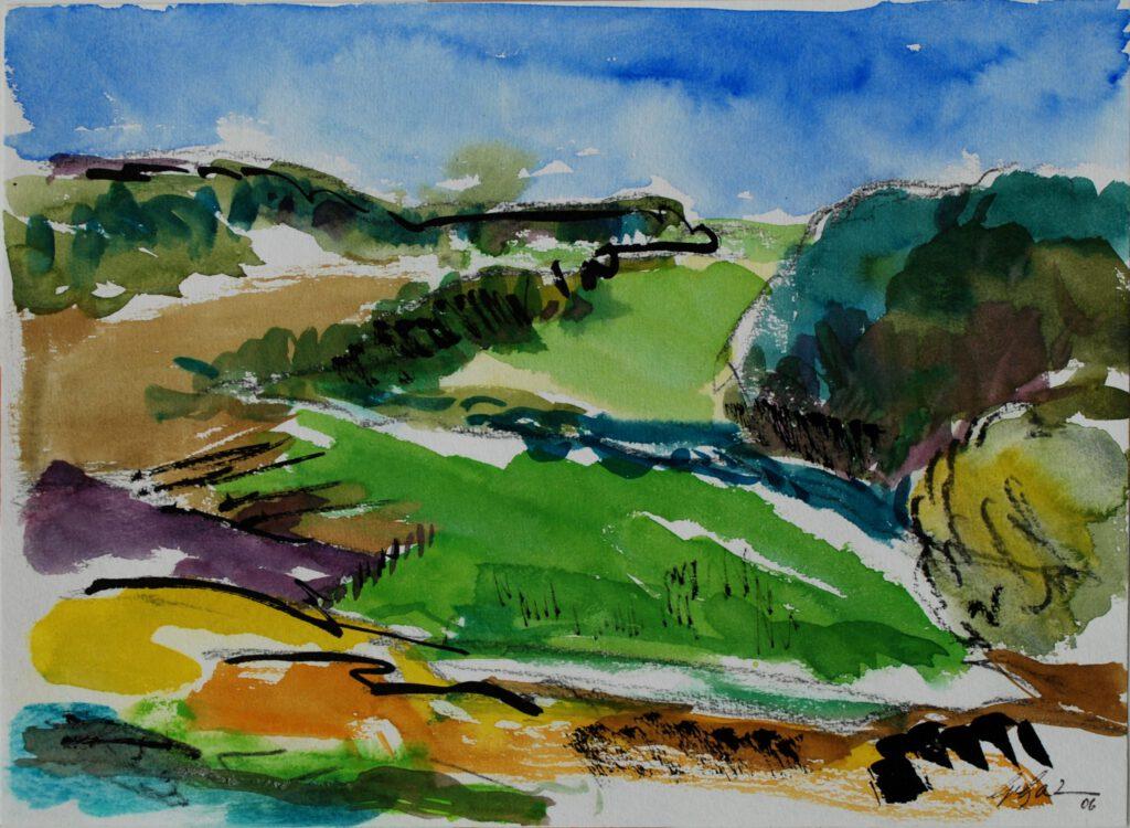 Berg. Land | Aquarell | 24 x 32 cm | 2006