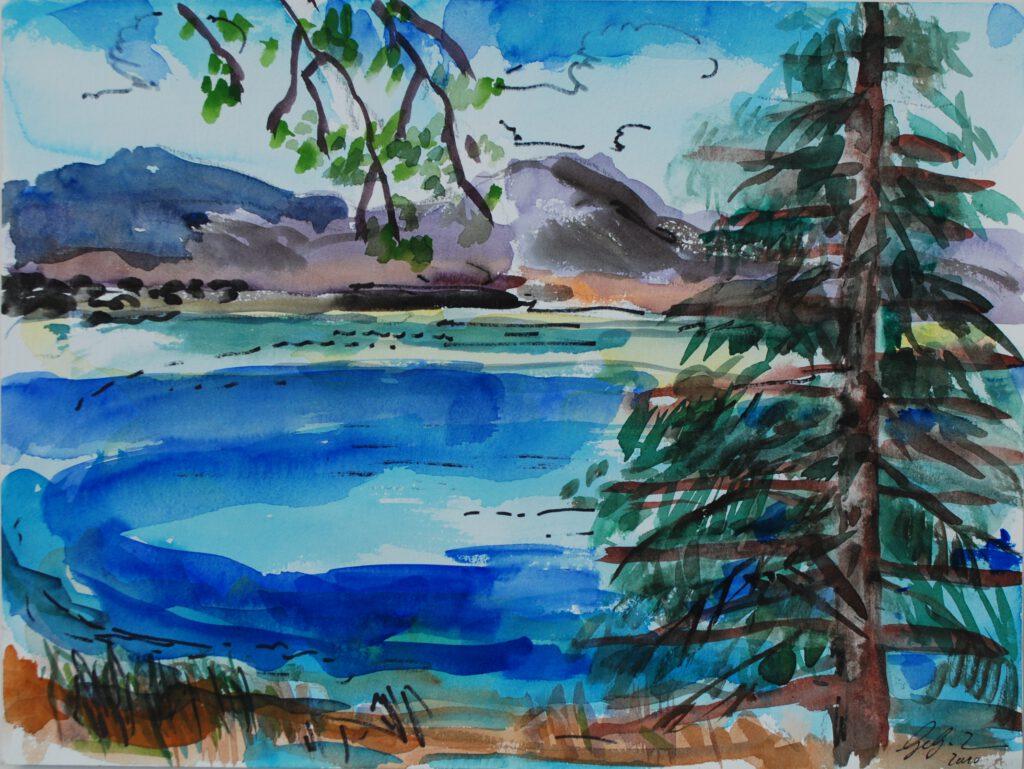 Chiemsee| Aquarell | 30 x 40 cm | 2010