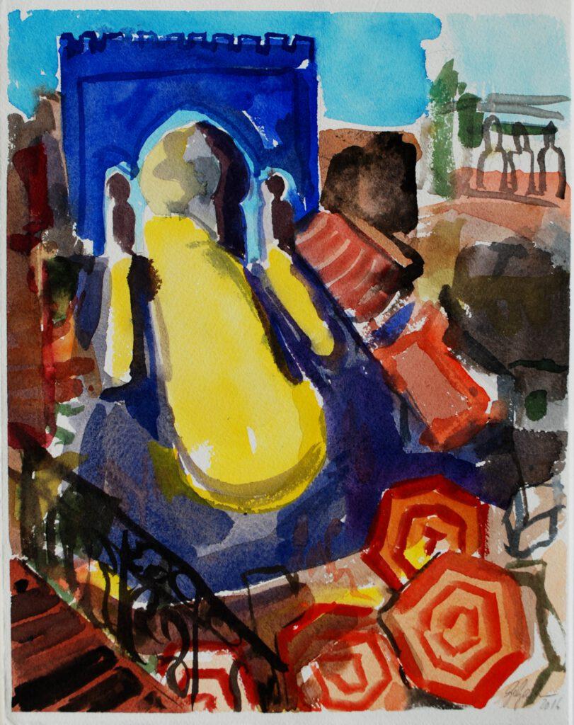 Das große Tor von Fez | Aquarell | 32 x 26 cm | 2016