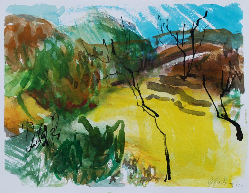 Eifellandschaft | Aquarell | 24 x 32 cm | 2021