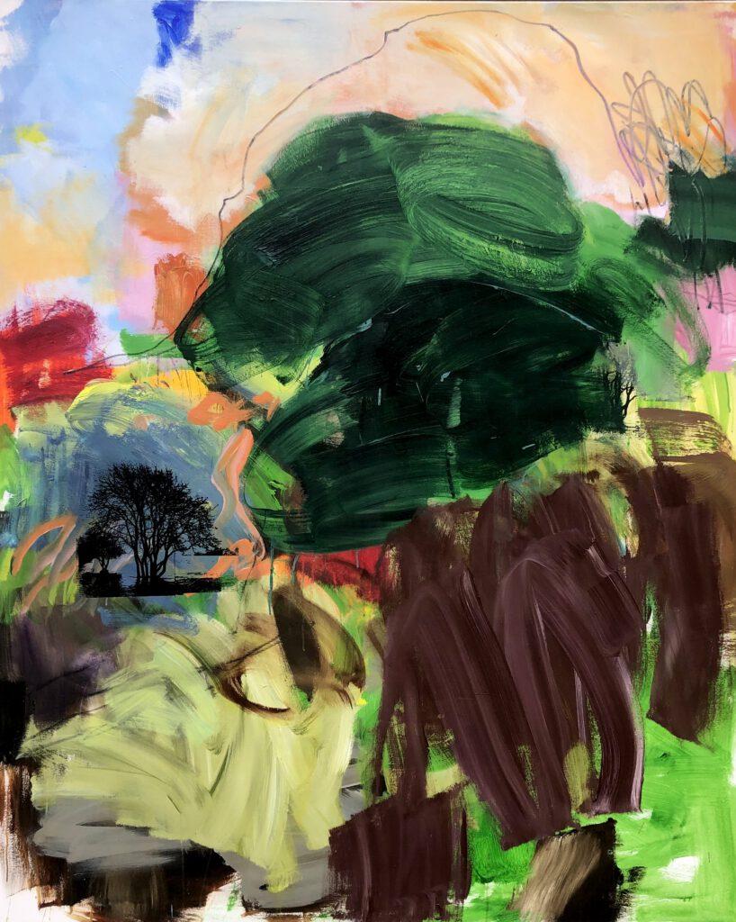 Landschaft im Umbruch | Acryl | 180 x 150 cm | 2021