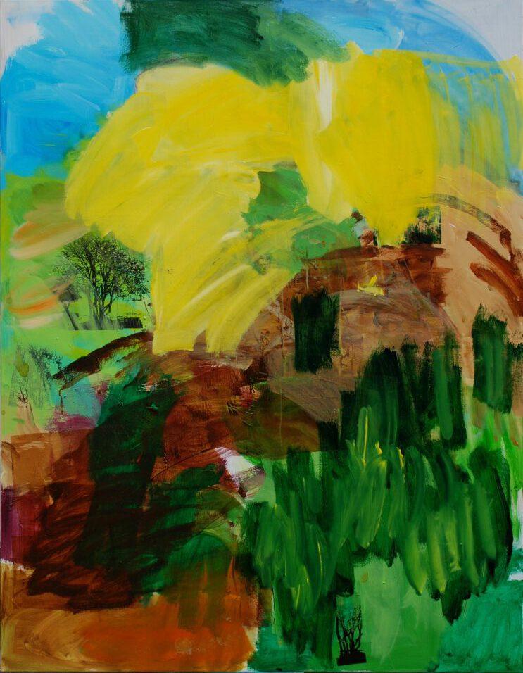 Landschaft im Umbruch | Acryl auf Lw | 180 x 140 cm | 2021