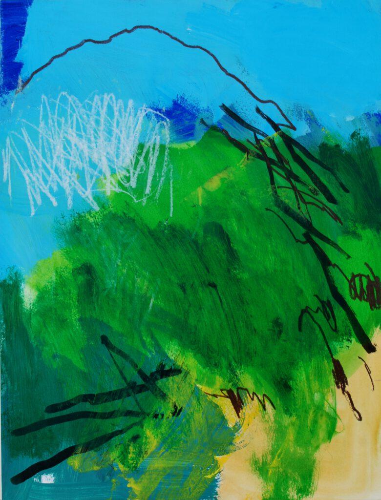Landschaft im Umbruch | Acryl auf Papier | 65 x 50 cm | 2021
